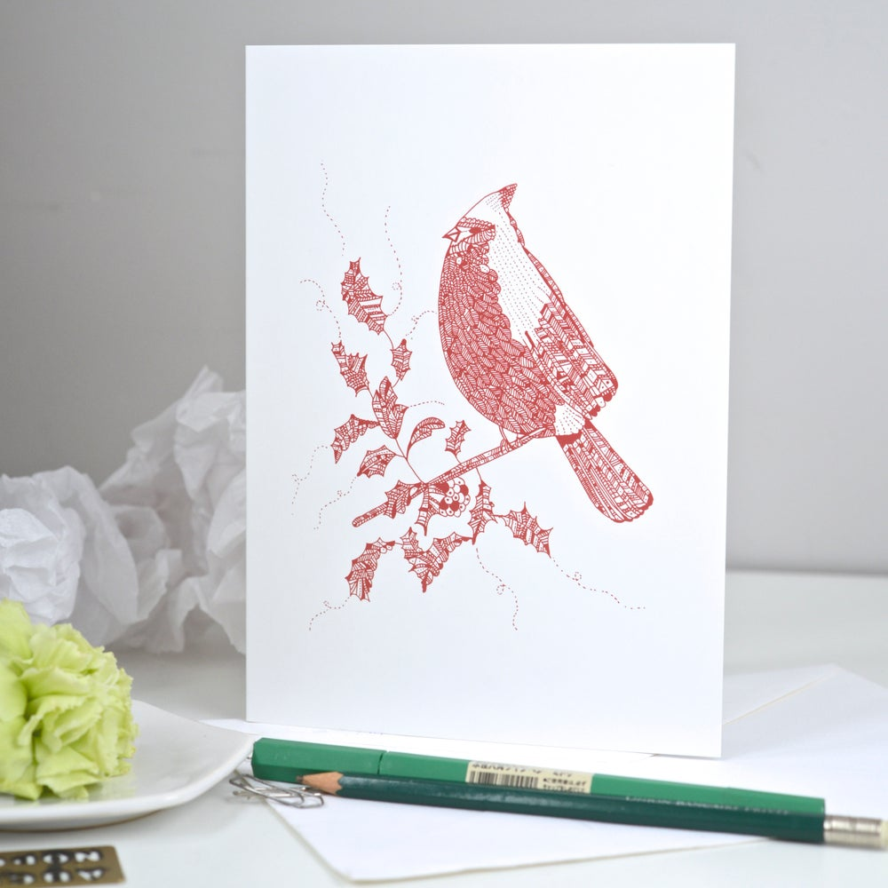 Image of *Winter Bird* Greeting card A5