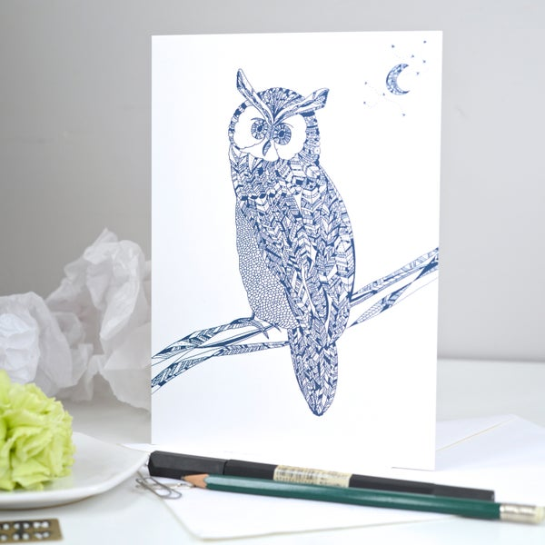 Image of *Owl* Greeting card A5
