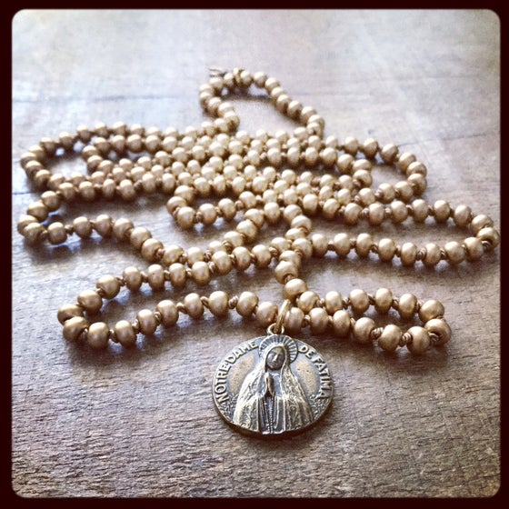 Image of OUR LADY OF FATIMA SCAPULAR NECKLACE
