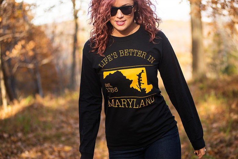 Image of Life's Better In Maryland Long Sleeve Tee