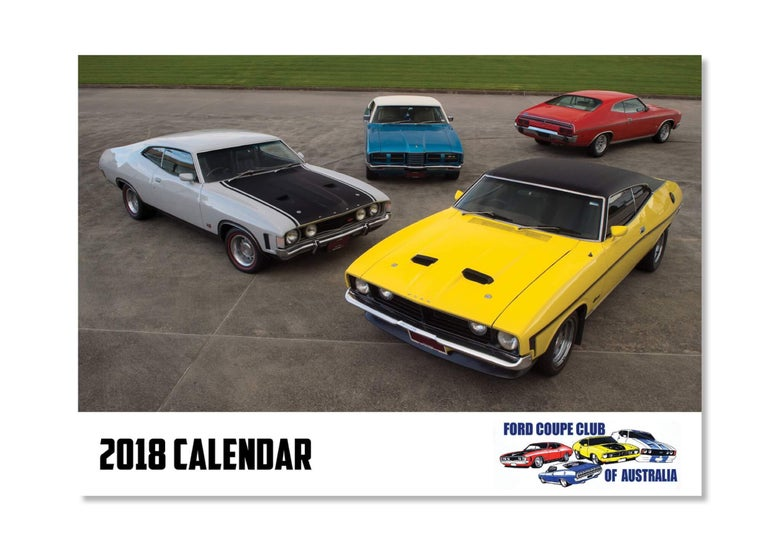 Image of 2018 Ford Coupe Club Calendar POST OUT