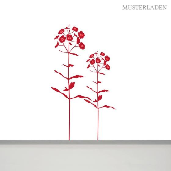 Image of Wandaufkleber Blumen Dascha