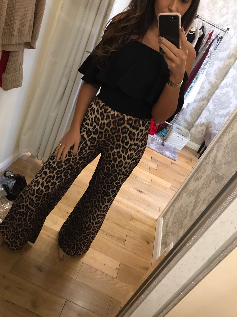 Image of Leopard print trousers