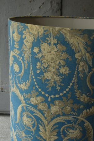 Image of French 19th century cotton print with pale grey lining