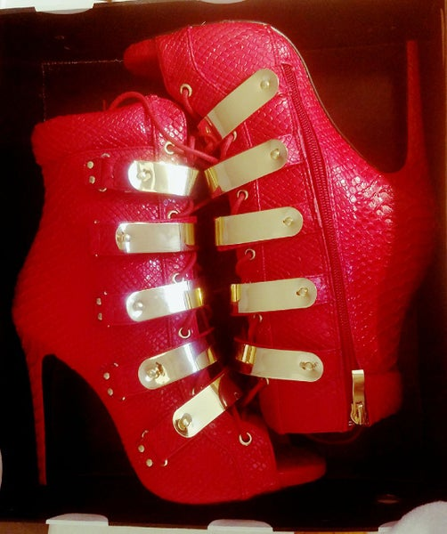 Image of Ruby red head turner shoes
