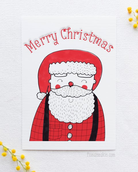 Image of Santa Claus Christmas Card