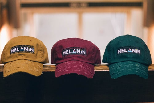 "Image of ""Martin"" Burgundy Melanin Hat"