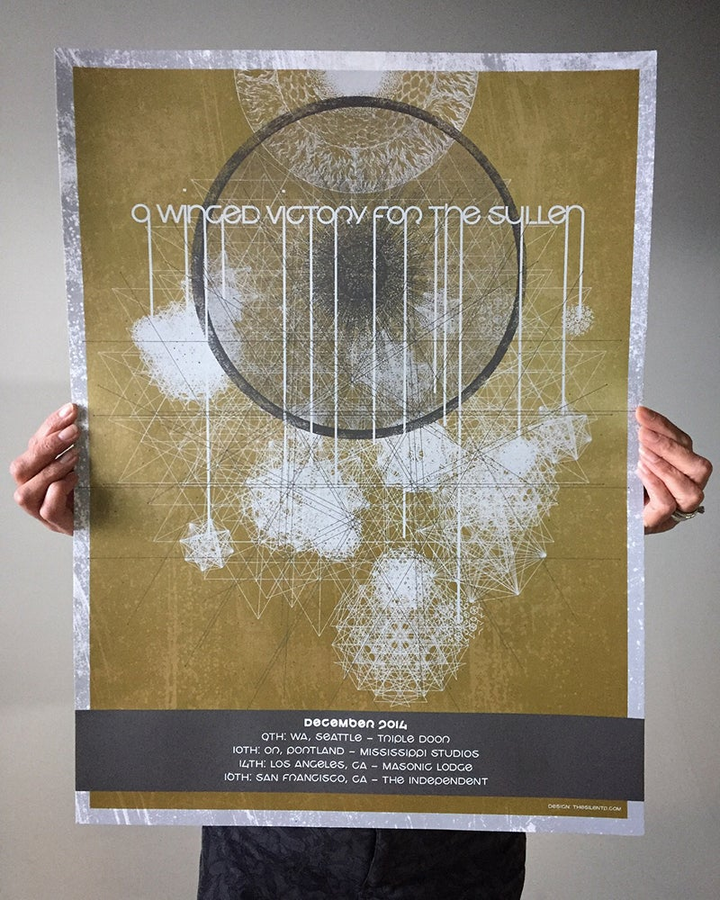 Image of A Winged Victory for the Sullen Tour Poster