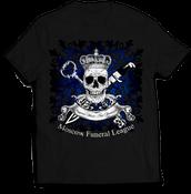 Image of MOSCOW FUNERAL LEAGUE balck t-shirt MFL-TS2