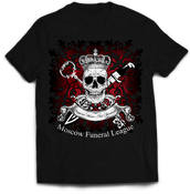 Image of MOSCOW FUNERAL LEAGUE black t-shirt MFL-TS3