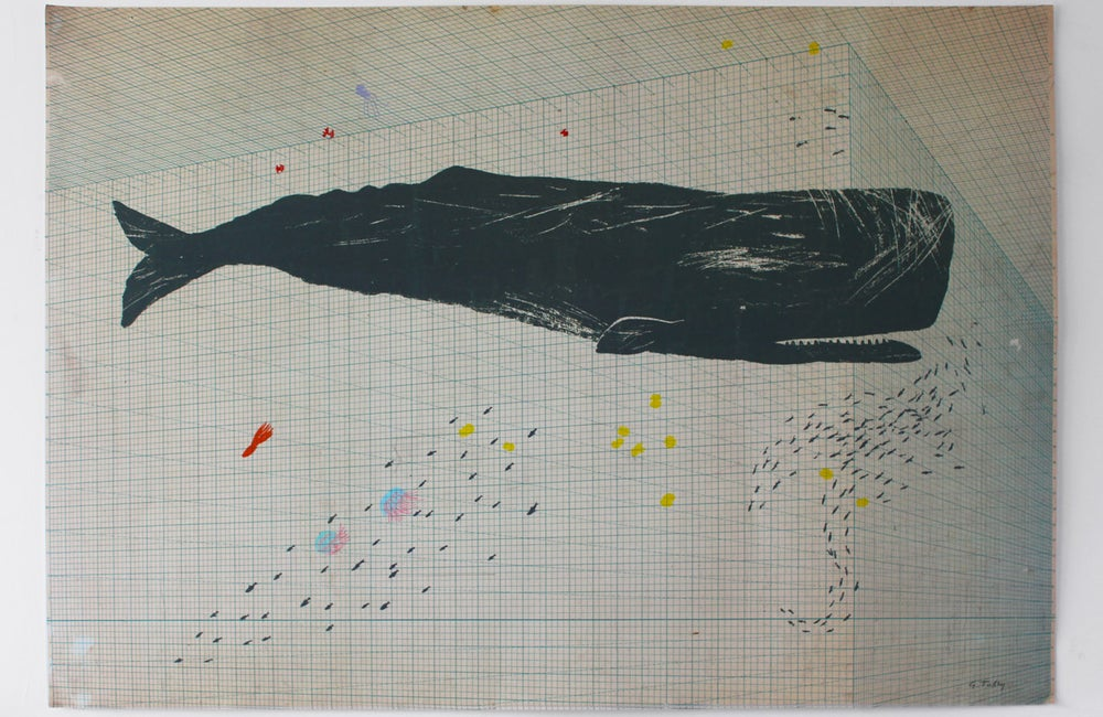 Image of Sperm Whale on Perspective Indicator poster