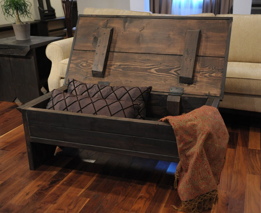 Image of 4 foot coffee table trunk
