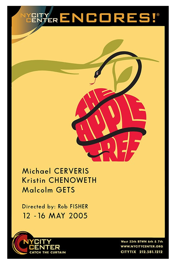 """Image of CITY CENTER ENCORES """"THE APPLE TREE"""" 2005"""