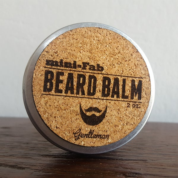 Image of Beard Balm - Manly Fragrance - Gentleman Scent - All Natural Organic Handmade in Small Batches 2 oz.