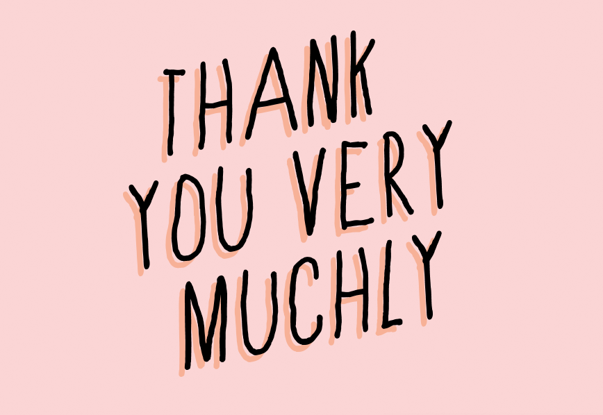Image of thank you very muchly