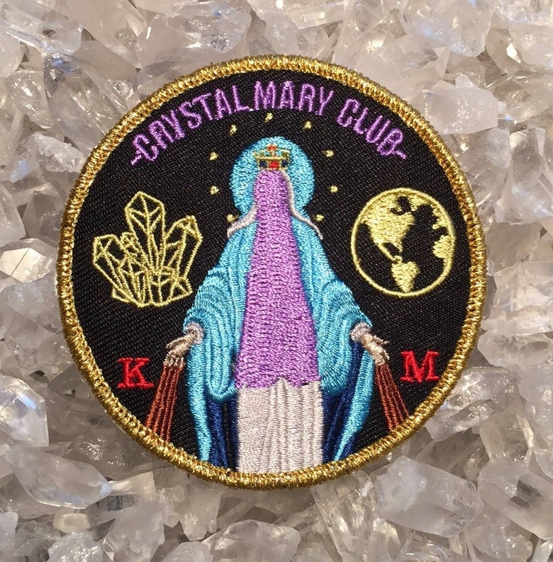 Image of Kyle Montgomery 'Crystal Mary Club' embroidered patch