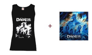 "Image of T-shirt ""Réminiscence"" Women Black and White + CD Digipack"