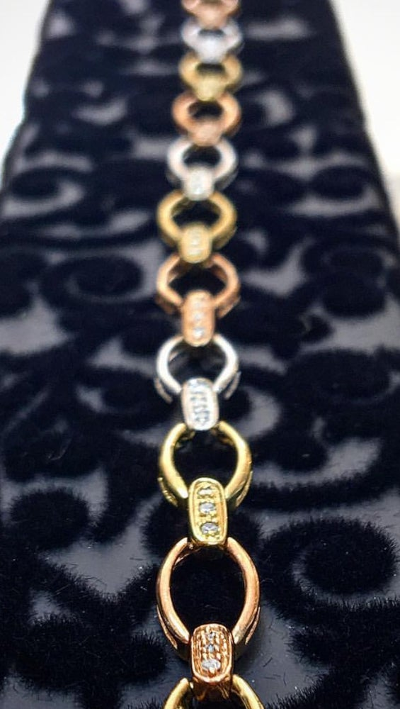 Image of Triple Gold Yellow/Rose/White