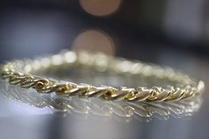 Image of 9 carat Gold Cuban link mens bracelet