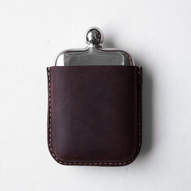 Image of Brown Kodiak Covered Flask