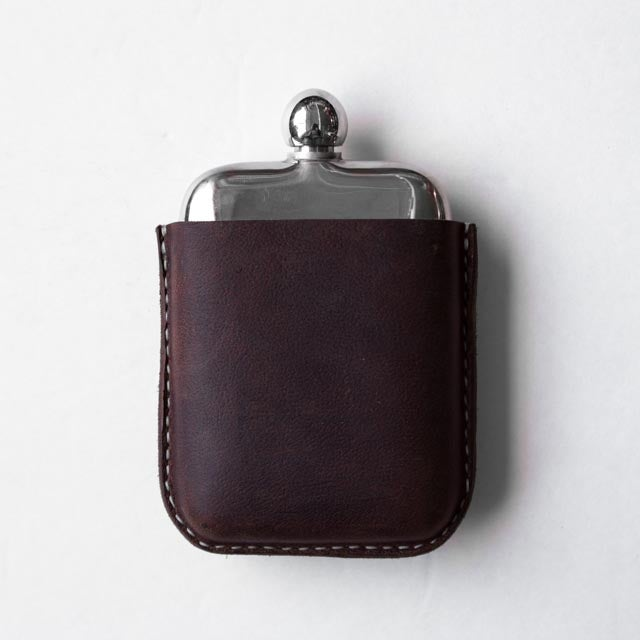 Image of Brown Kodiak Covered Flask