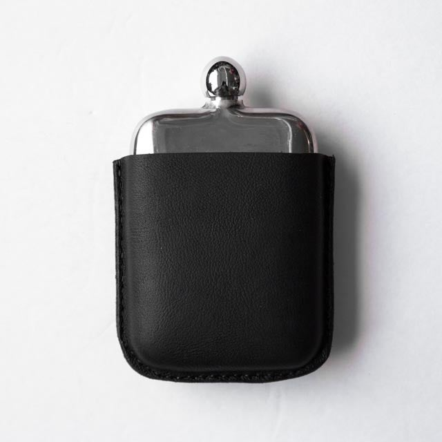 Image of Black Kodiak Covered Flask