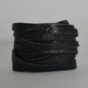 Image of Caviar leather wrap bracelet