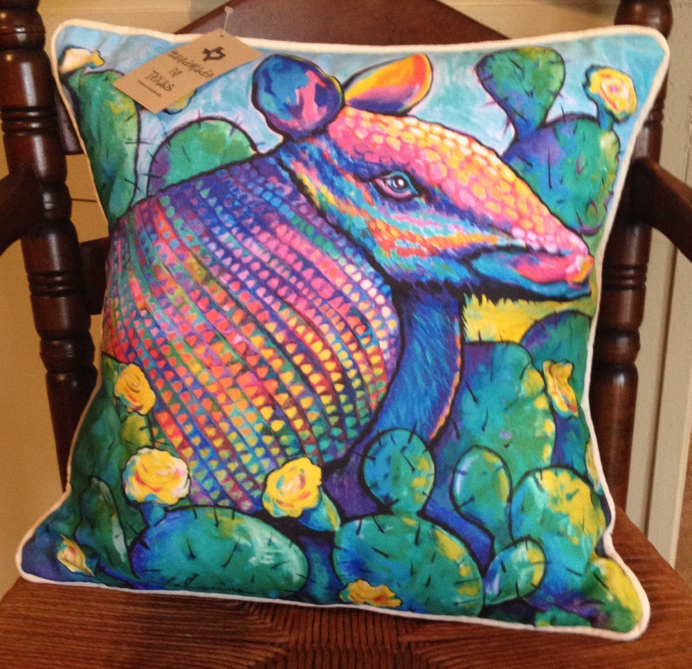 """Image of """"Armadillo"""" Pillow"""