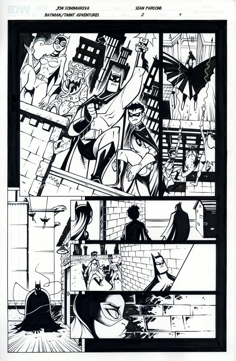 Image of Batman TMNT Adventures 2 Page 9