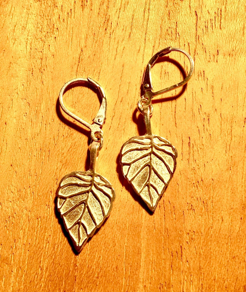 Image of Aspen Leaf Earrings