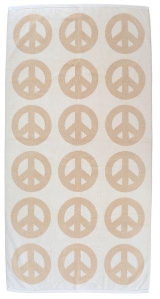 Image of Large Peace Towel <div> Cream & Scour</div>