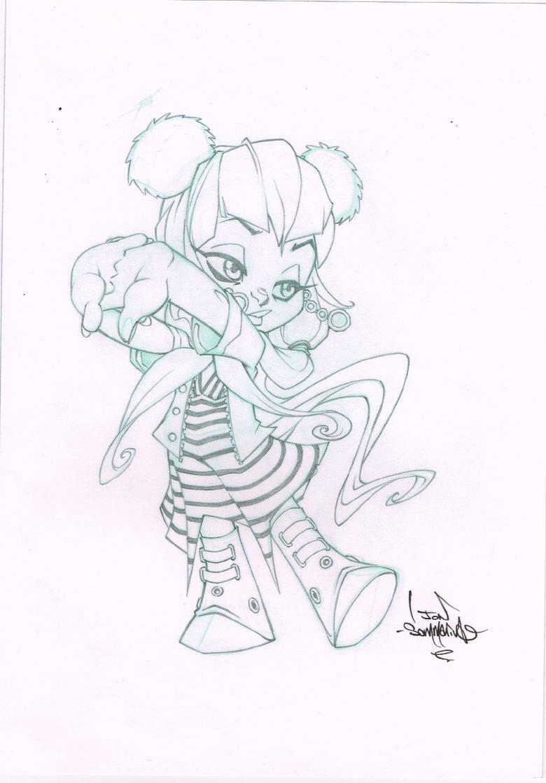 Image of Cute Chibi Girl sketch ORIGINAL ART