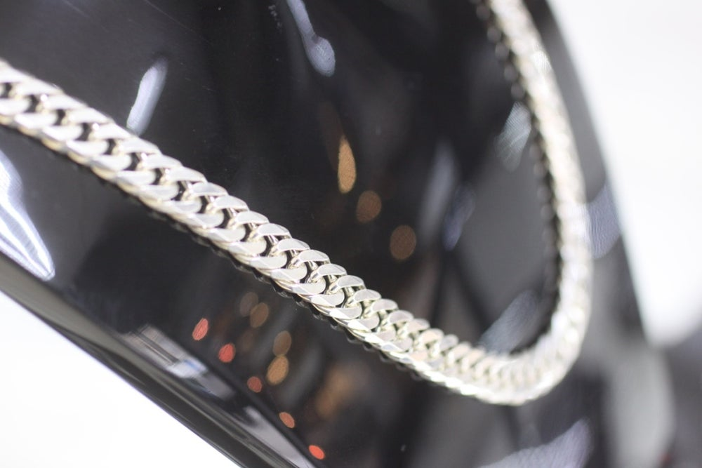 Image of Mens Sterling Silver Cuban Link Chian