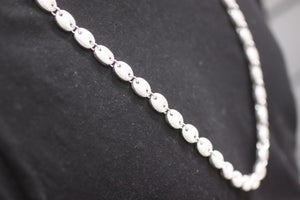 Image of Mens Sterling Silver Heavy Chain Iced