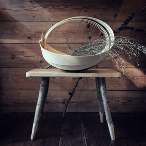 Image of Large Steambent Trug in Ash & Brass.
