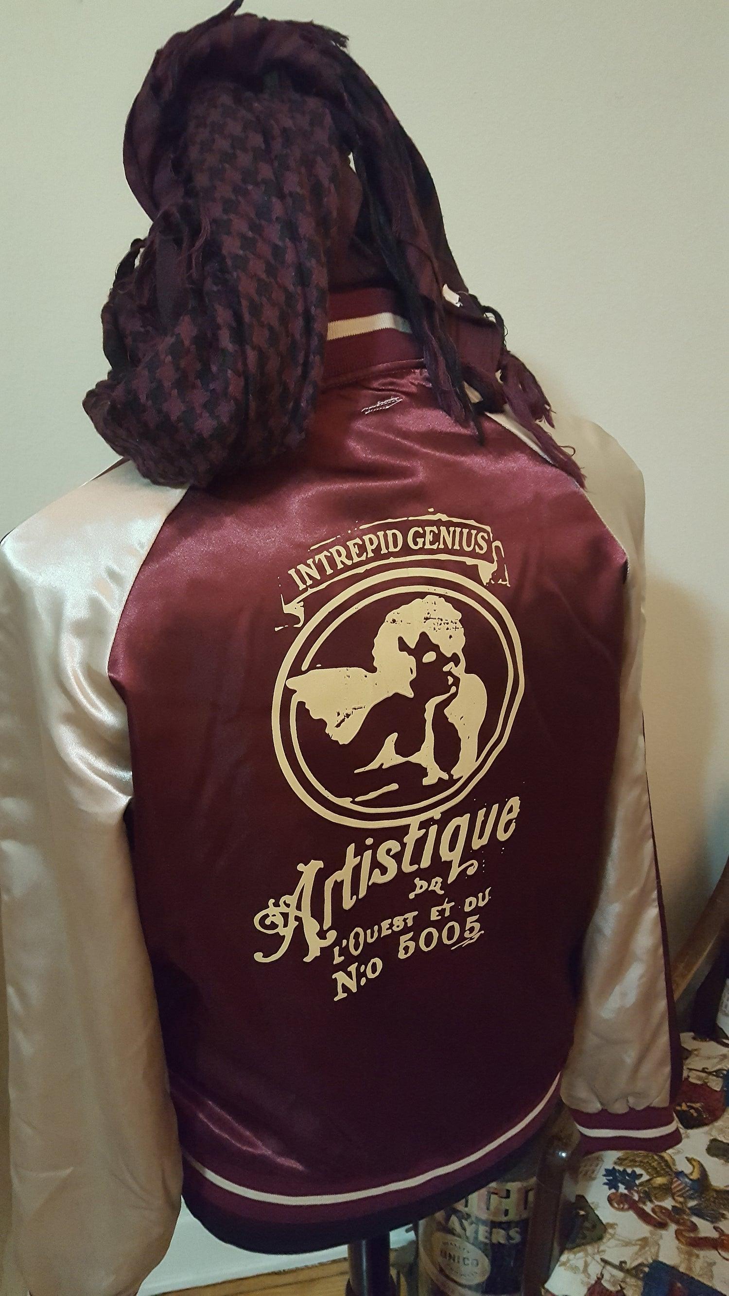 Image of Satin Streak Artistique Track Jacket