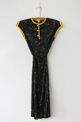 Image of SOLD Black And Yellow Nation Dress