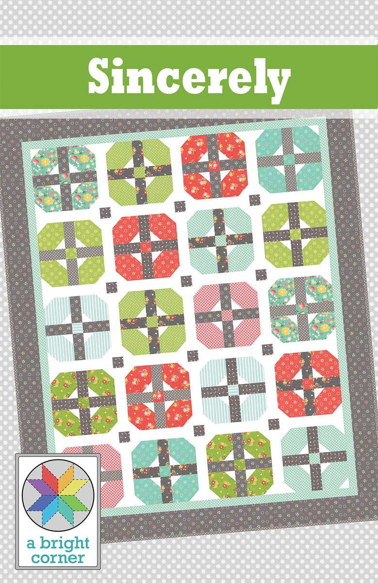 Image of Sincerely Quilt Pattern - PAPER pattern