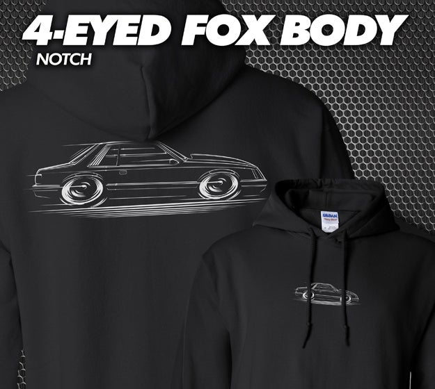 Image of 4-Eyed Fox Body Notch T-Shirts Hoodies Banners