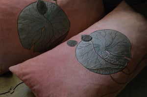 Image of LOTUS BUDS AND LEAF