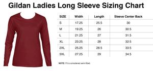 Image of Watercolor Ladies Long Sleeve 2XL-3XL