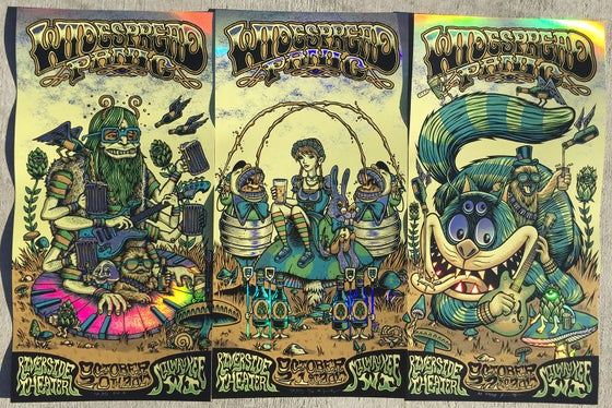 Image of Widespread Panic - Milwaukee WI - RAINBOW FOIL variant
