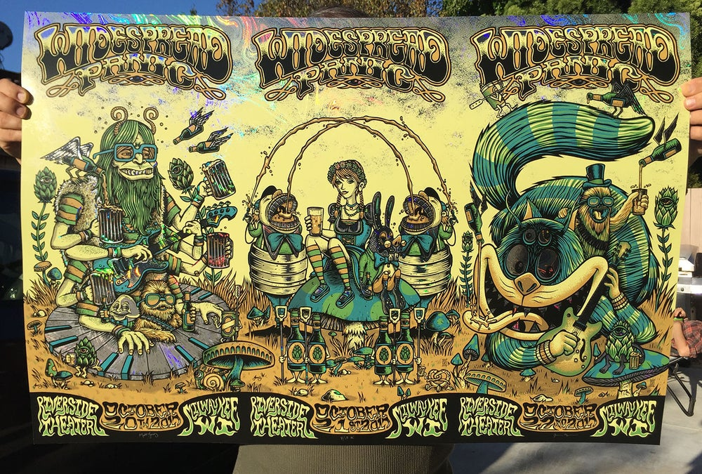 Image of Widespread Panic - Milwaukee WI - OIL SLICK FOIL variant