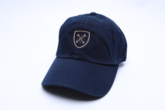 "Image of Navy and Khaki Logo ""Dad"" Hat"