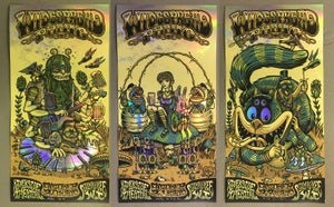 Image of Widespread Panic - Riverside Theatre  - October 20th-22nd 2017 - Rainbow Foil Cut Set
