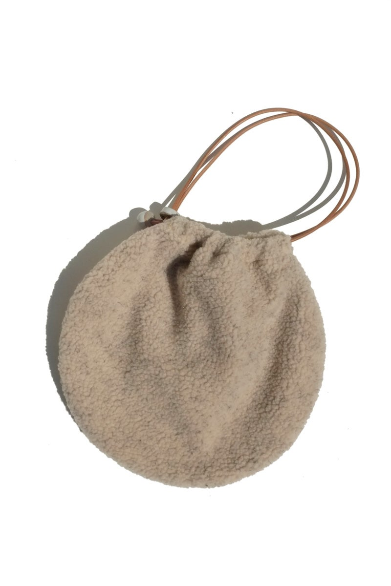 Image of fleece circle tote