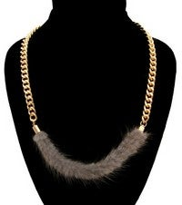 Image of FUR CHAIN NECKLACE