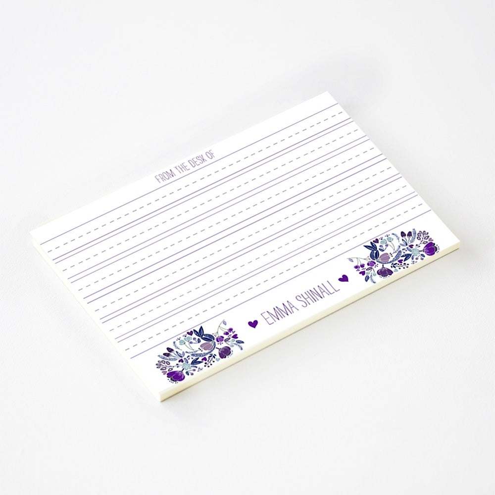 Image of Girls Sweet Garden Lined Notepad (more colors)