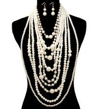 Image of DROOPING PEARL SETS
