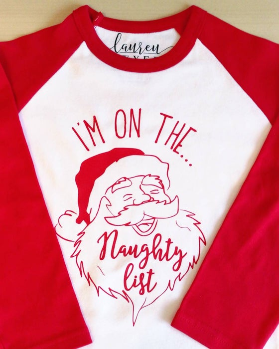 Image of I'm on the naughty list - Children's ©